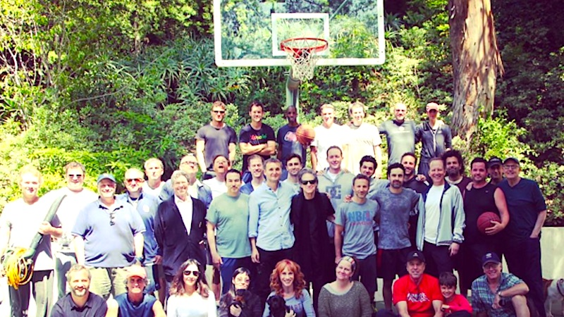 Some of the biggest names in comedy gathered at Garry Shandling's house for one last pickup basketball game.