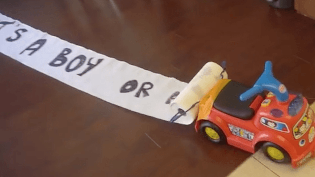 Inventive dad engineers the most impressive gender reveal ever.