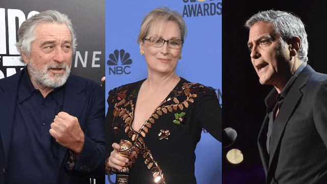 George Clooney and Robert DeNiro slam Trump for messing with their pal Meryl.