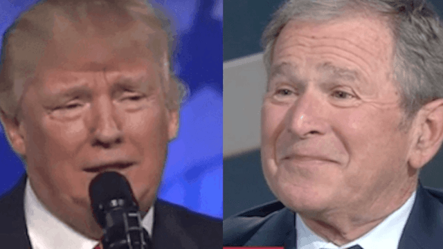 Here's George W. Bush's expletive-laden take on President Trump's inauguration.
