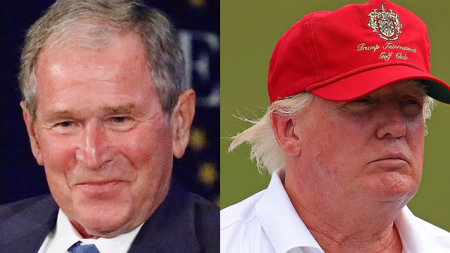 George W. Bush reportedly threw shade at Donald Trump and it's savage.