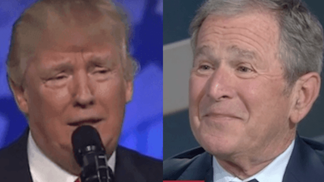 George W. Bush uses interview to throw major shade at Donald Trump.