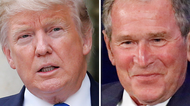 George W. Bush gave a speech slamming Trump and Twitter doesn't know who to hate anymore.
