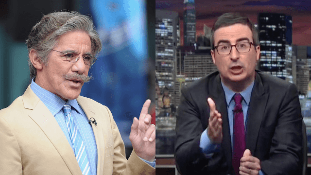 Geraldo Rivera and John Oliver are having the mother of all feuds about bombs.