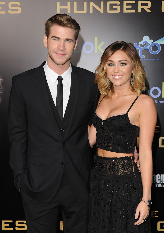 The golden days of Miley and Liam, circa 2012.