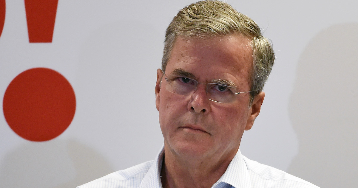 There are so many photos of Jeb Bush looking disappointed.