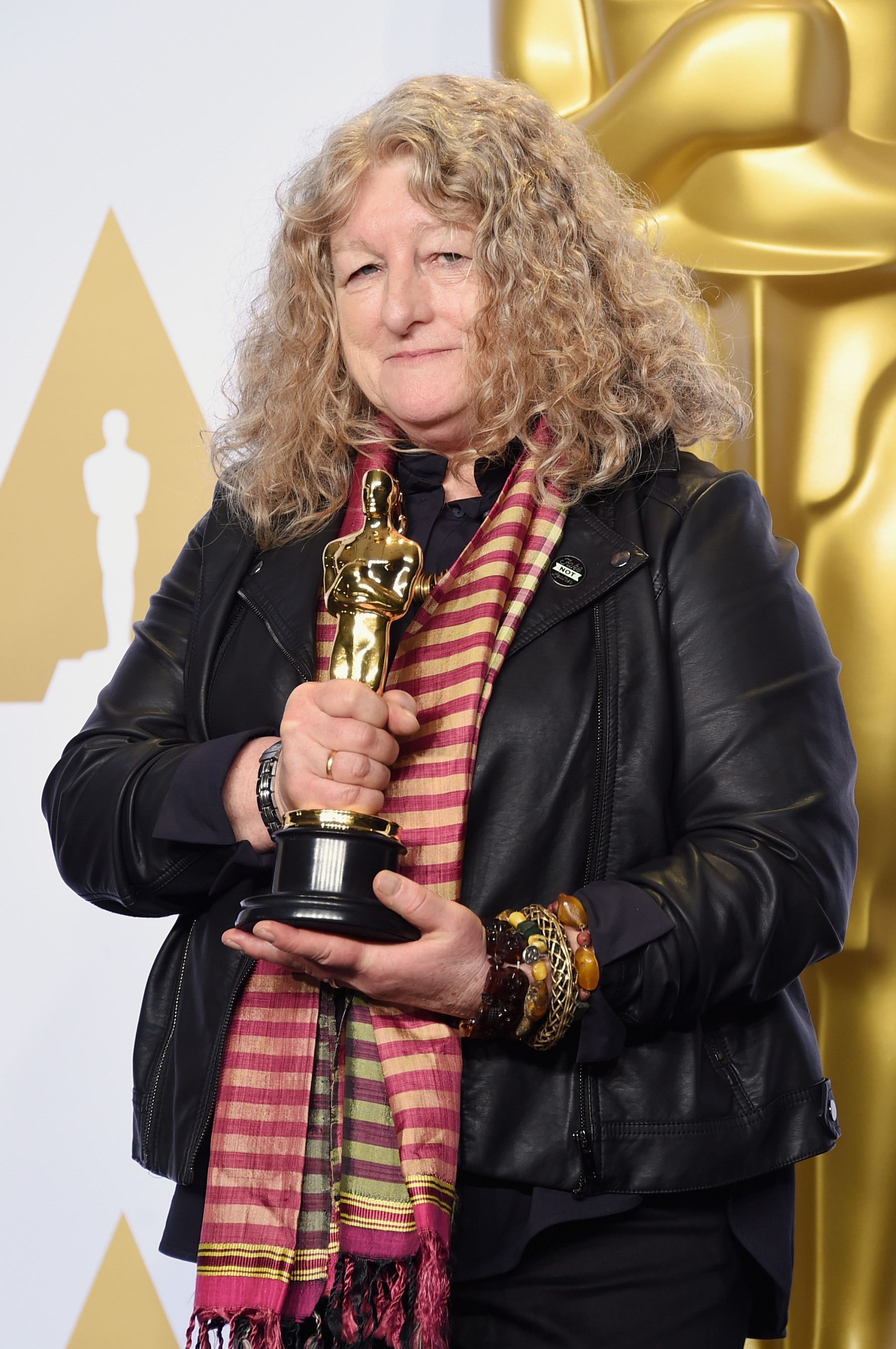 Beavan and her Oscar, which nobody said was underdressed.