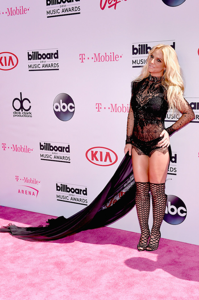 Britney Spears circa 2001 made an appearance at the 2016 Billboard Music Awards.