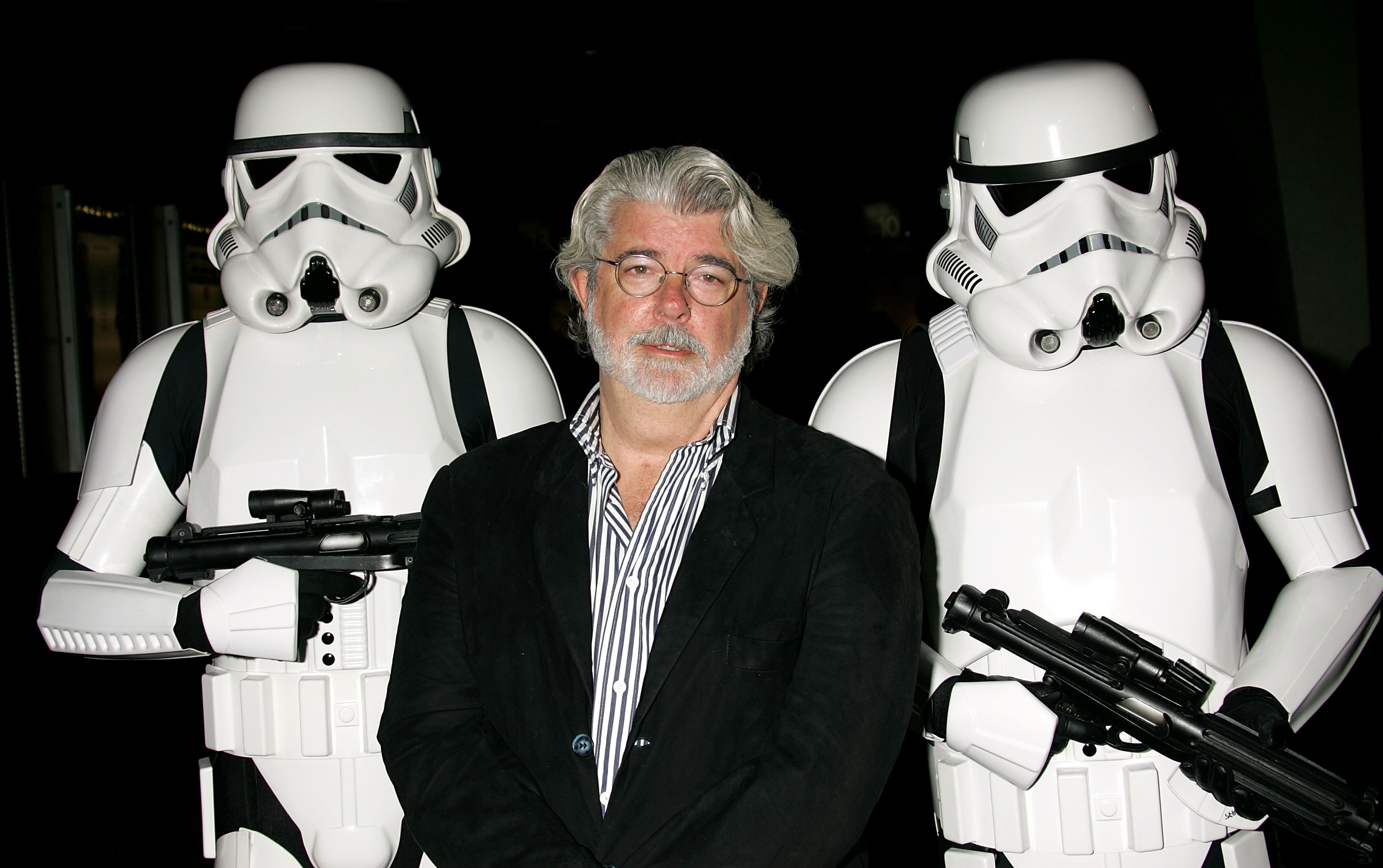 George Lucas, looking exhausted.