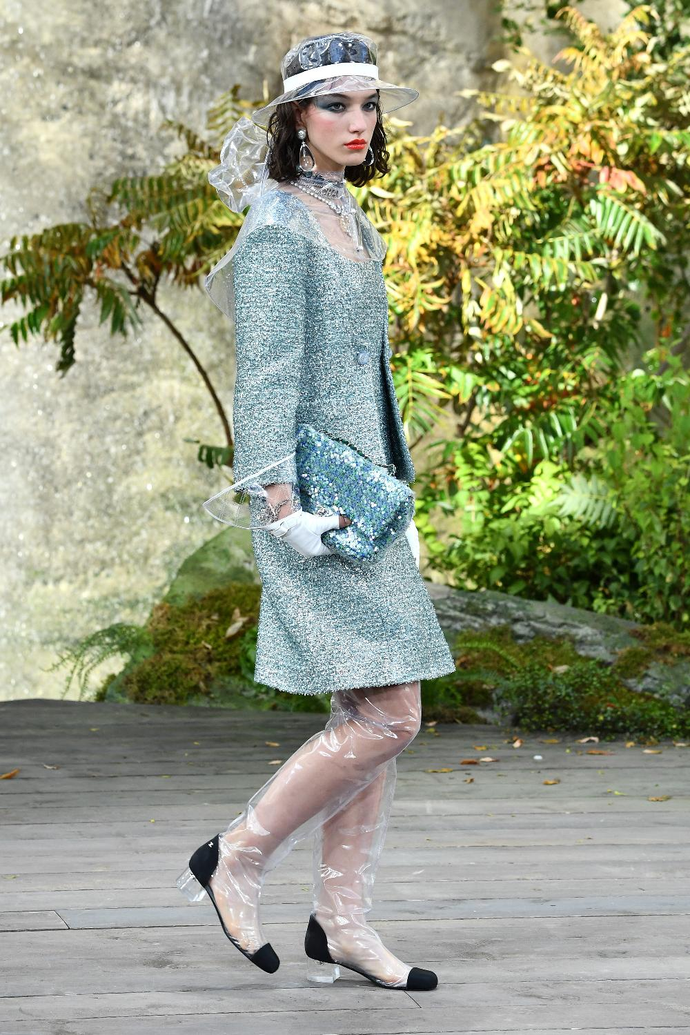 Chanel is making bizarre clear plastic boots and hats twitter has a lot of  feelings jpg 44e1addbf5a9