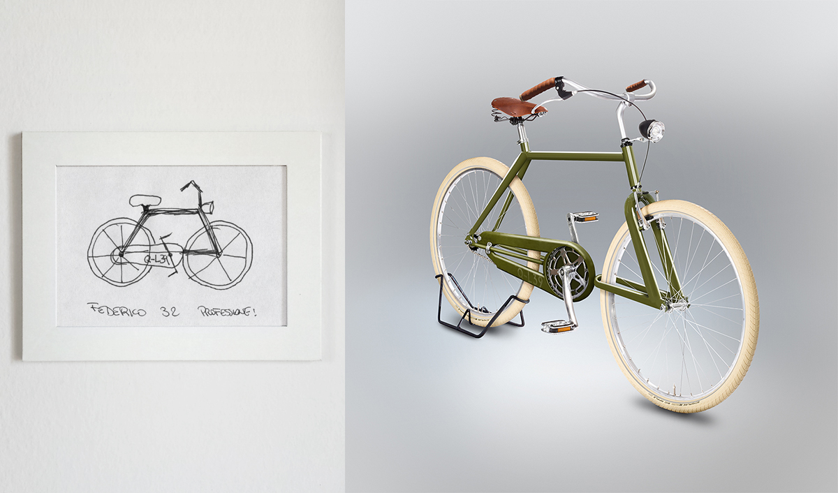 This bicycle almost looks rideable, although you'll have to sit right  next to the handlebars.
