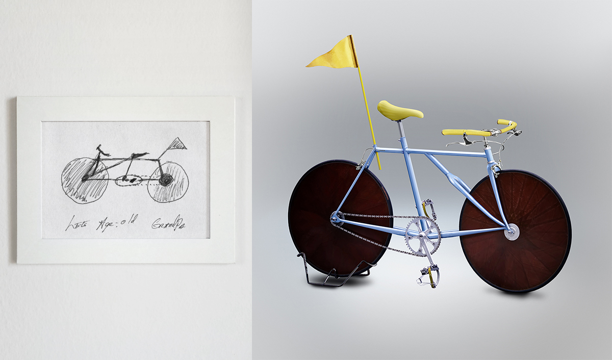 The frame design would make the bicycle hard to steer, to say the least.