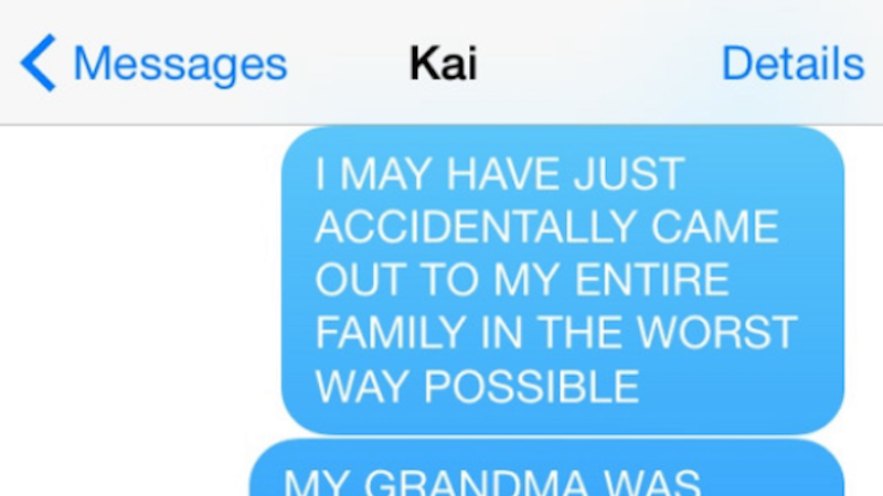 A girl accidentally came out to her family and totally burned her homophobic grandma.