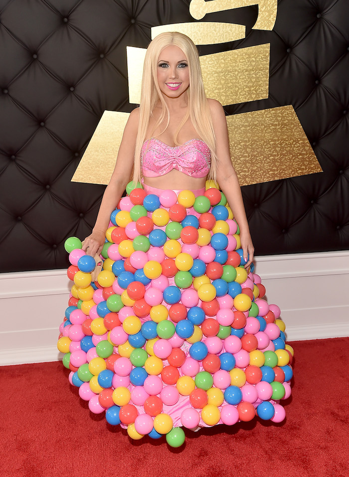Well, thanks goodness someone came dressed as as Chuck E. Cheese ball pit.