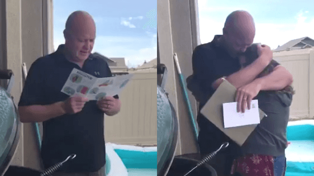 Girl asks her stepdad to adopt her in viral video that's making everyone cry.
