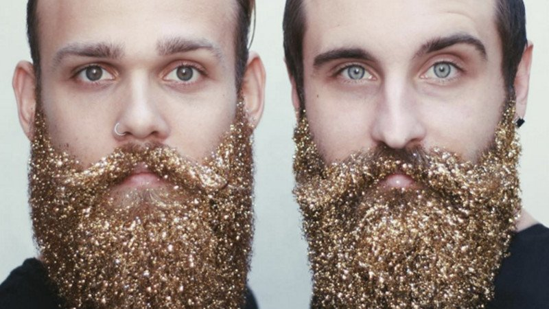 This holiday season, the sparkliest male beauty trend is the 'glitter beard.'
