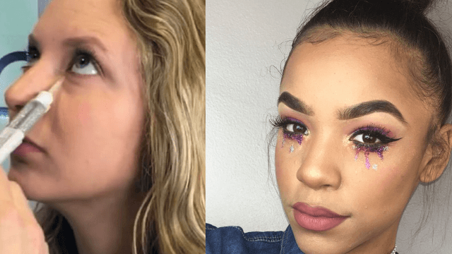 'Glitter tears' is the latest makeup trend and Twitter is crying.