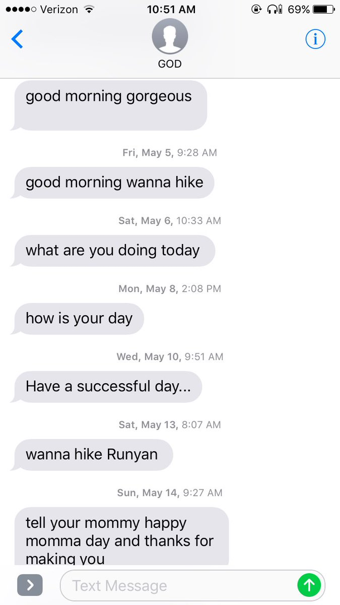 Woman changes creepy guy's name to 'God' in her phone, instantly makes his texts inspirational.