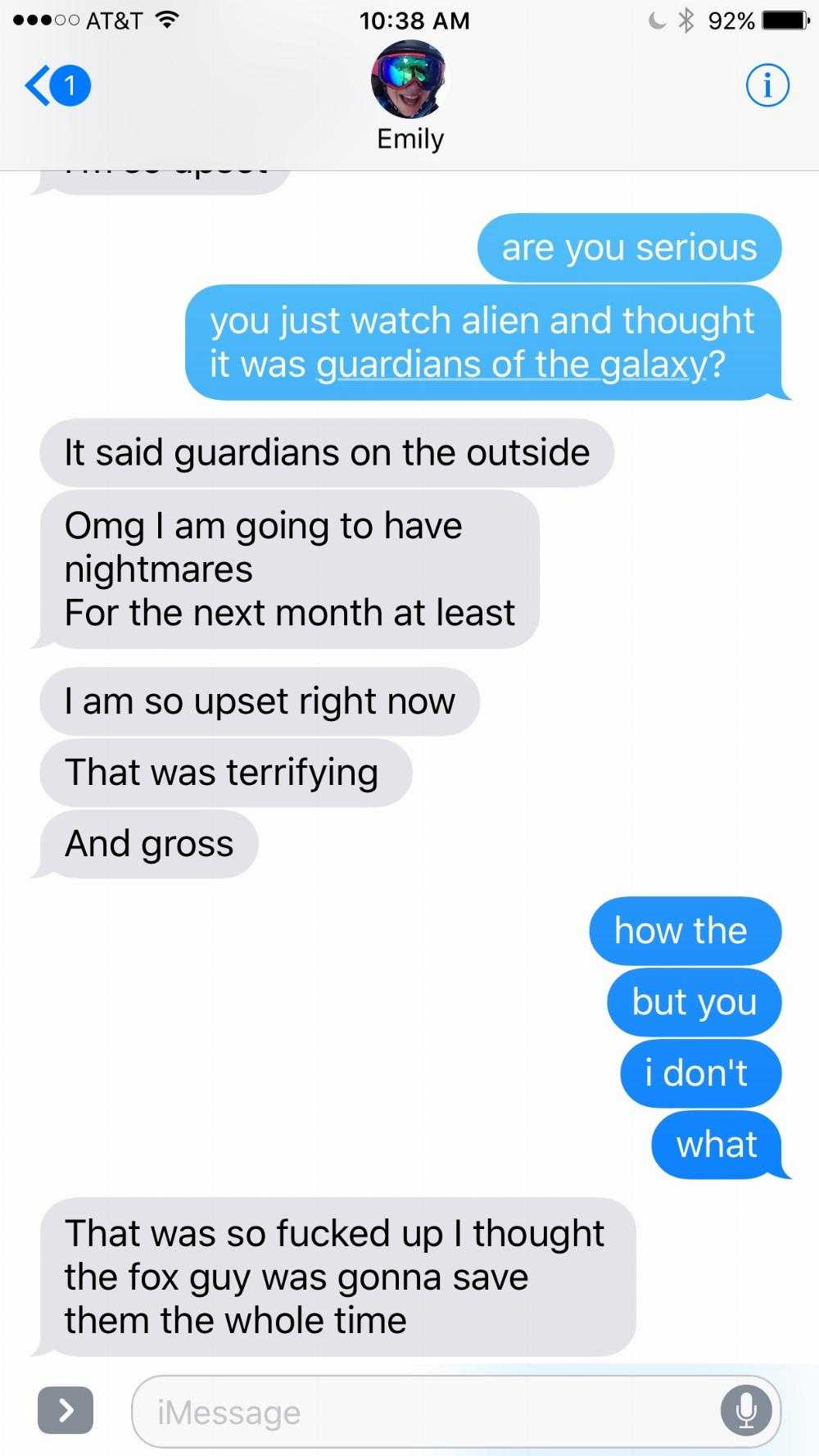Girl who thought she was seeing 'Guardians of the Galaxy Vol. 2' gets a traumatizing surprise.