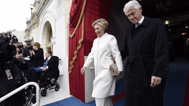 'Good Morning America' makes sexist mistake in tweet about the Clintons arriving at the inauguration.