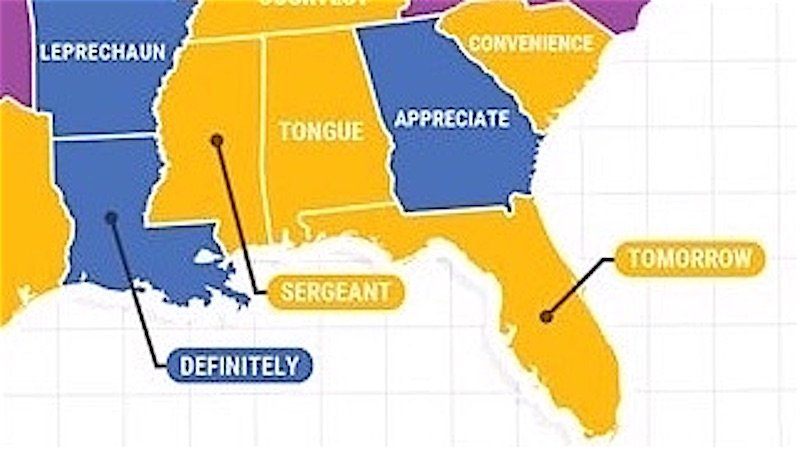 Google's map of the most misspelled word in every state is embarrassing no matter where you're from.