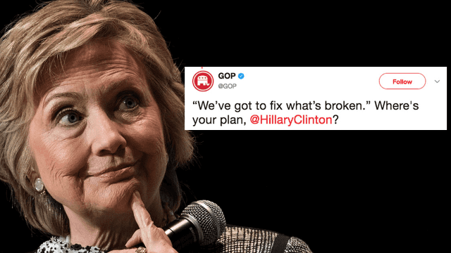 Snarky GOP asks for Hillary Clinton's healthcare plan. That backfired.