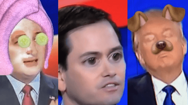 Here are the 11 best uses of Snapchat filters that made the GOP debate great again.