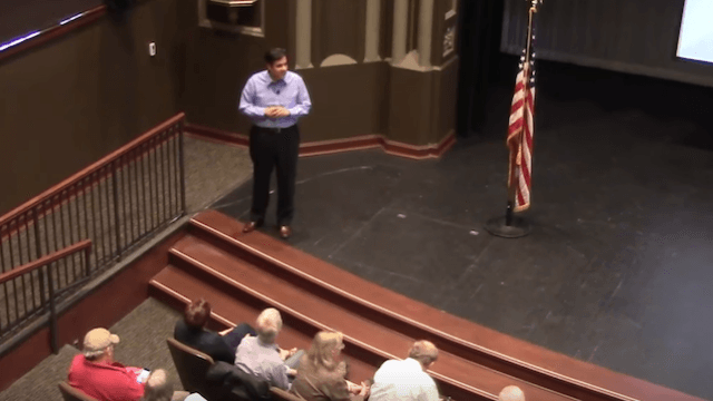 GOP rep says 'nobody dies because they don't have access to healthcare.' Town hall disagrees.