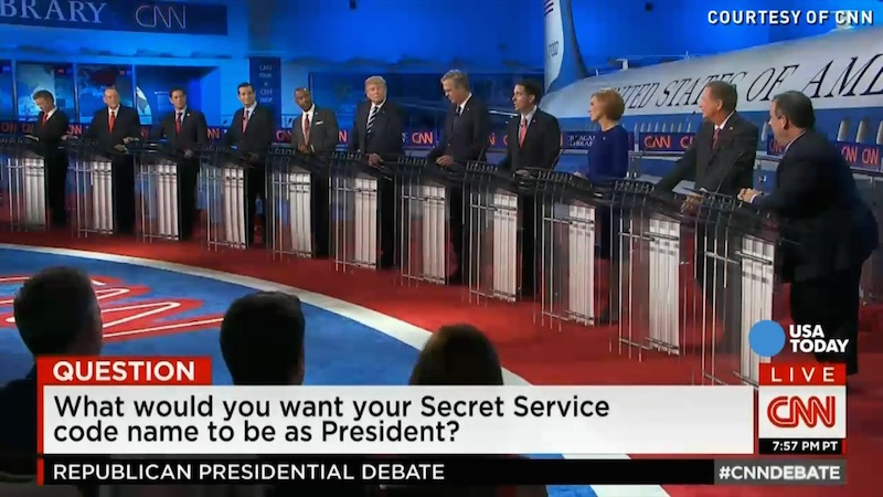 The Secret Service names GOP candidates would give themselves, ranked by nonsense.