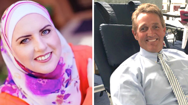 GOP Senator offers support to Muslim woman running against him amidst racist attacks.