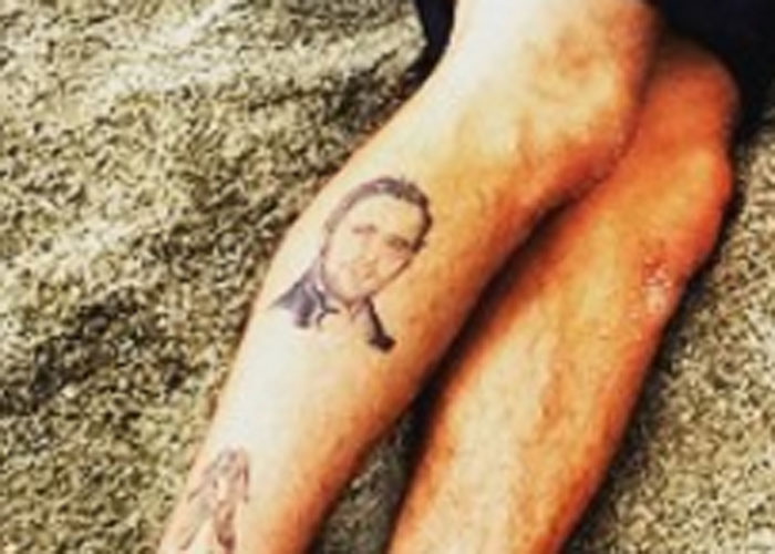 Celebrities who inexplicably got a tattoo of another celebrity's face.