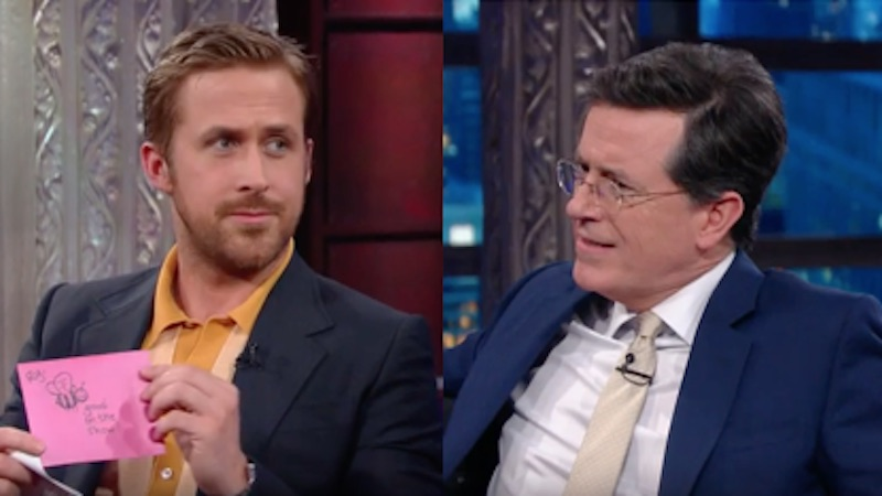 Ryan Gosling's mom stumped Stephen Colbert with her 'Lord of the Rings' trivia.