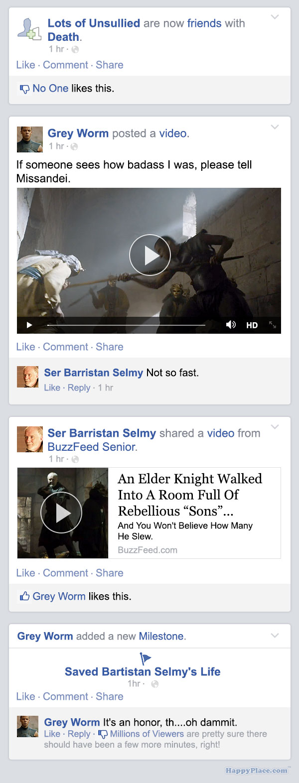 If Game of Thrones took place entirely on Facebook — Season 5, Episode 4