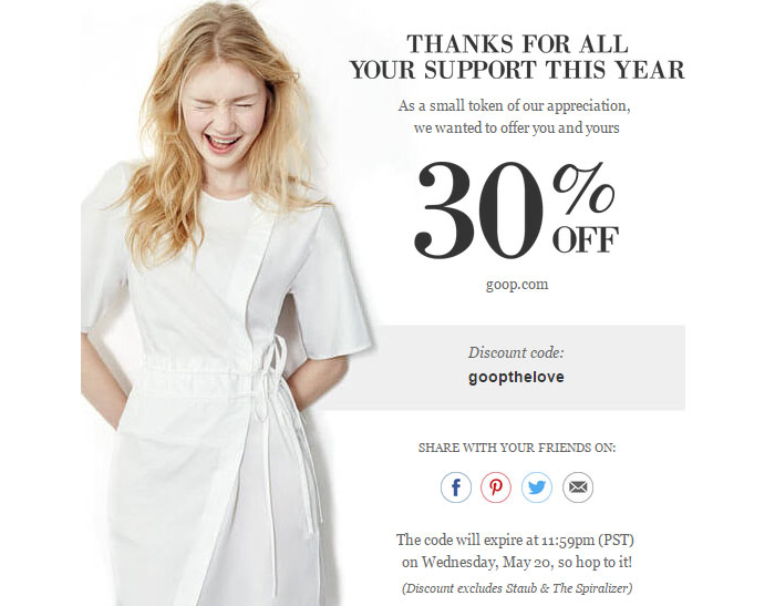 This Week in GOOP: Gwyneth's newsletter wonders if you're dating a narcissist.