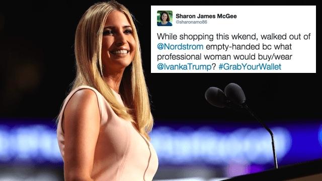 #GrabYourWallet calls on women to boycott Ivanka Trump for defending her dad.