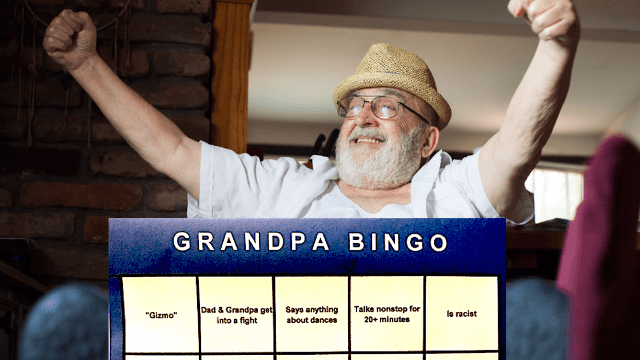 A girl created 'Grandpa Bingo' to make the holidays more interesting for everyone but him.