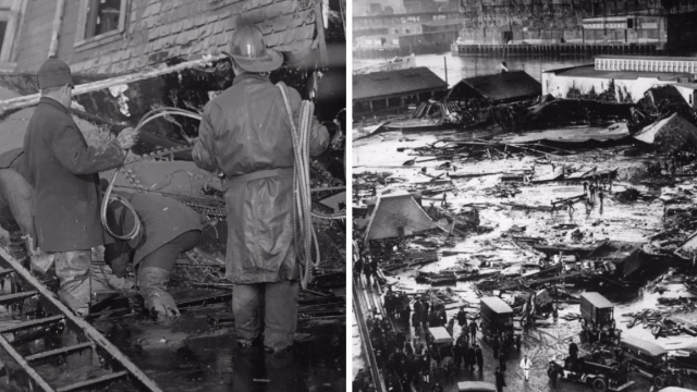 You'll never laugh about the Great Molasses Flood of 1919 again after this terrifying 4-minute video.