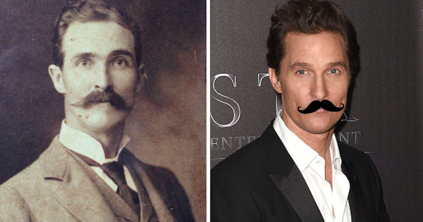 This dude's great-great-grandfather looks eerily similar to Matthew McConaughey.