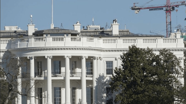 Greenpeace protests Trump with this perfectly placed 'resist' banner.