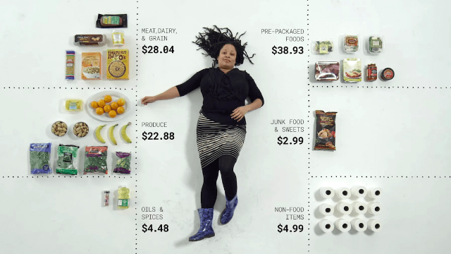 A $100 trip to the grocery store means very different things to these real shoppers.