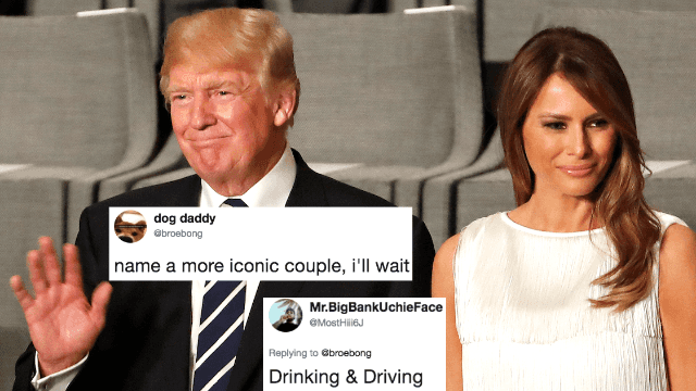 Guy bets Twitter can't name a more 'iconic' couple than Donald and Melania Trump. Oh, but they can.