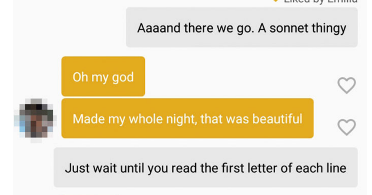 Guy with impressive Tinder game buries NSFW message in