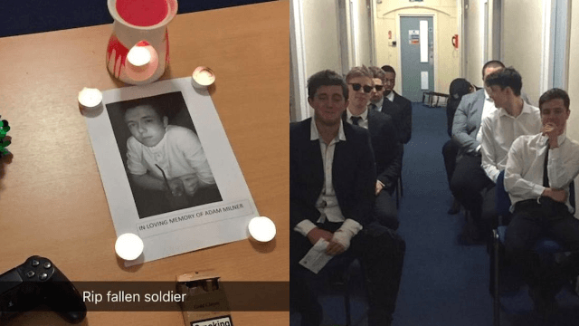 Guys hold hilariously passive-aggressive funeral for their friend 'taken by a relationship.'