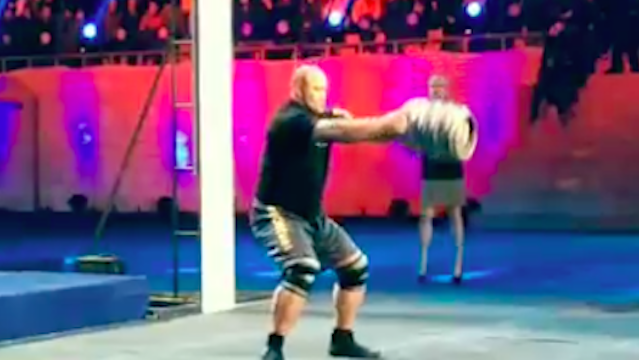 The Mountain from 'Game of Thrones' crushed his coolest world strength record yet—the keg toss.