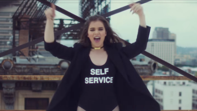 Hailee Steinfeld's feminist masturbation song has a music video now.