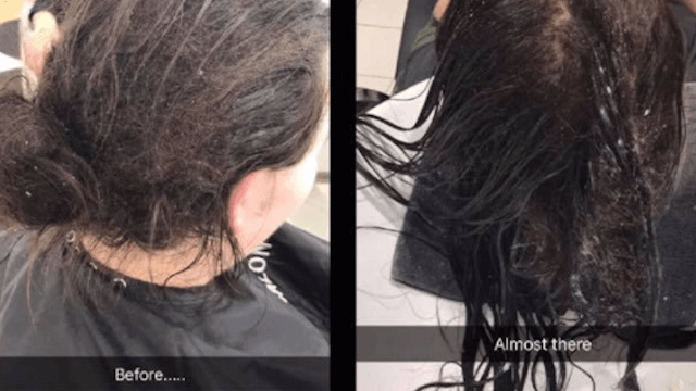 Hairstylist shares heartwarming before-and-after pics from a client who suffers from depression.