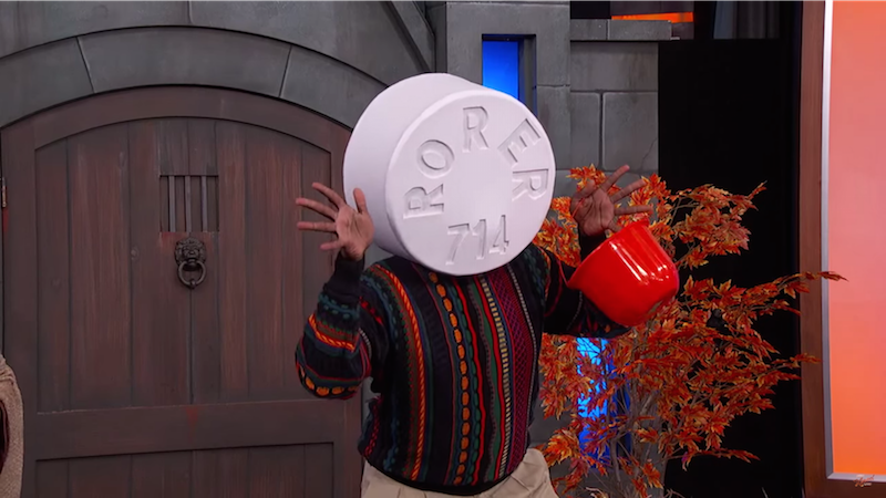 Pill Cosby, Trumpty Dumpty and other painfully punny costume ideas from Jimmy Kimmel.