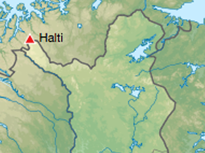 Mt. Halti sits just on the border of the two countries.