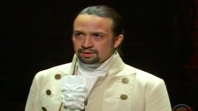 Here's the live 'Hamilton' performance and acceptance speech from the 2016 Grammys with Lin Manuel-Miranda.
