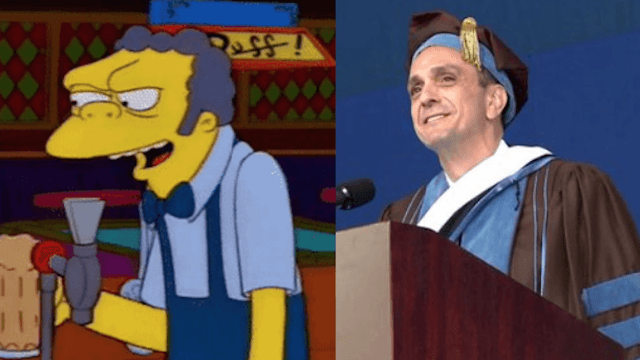 Hank Azaria and his 'Simpsons' characters delivered a hilarious commencement address.